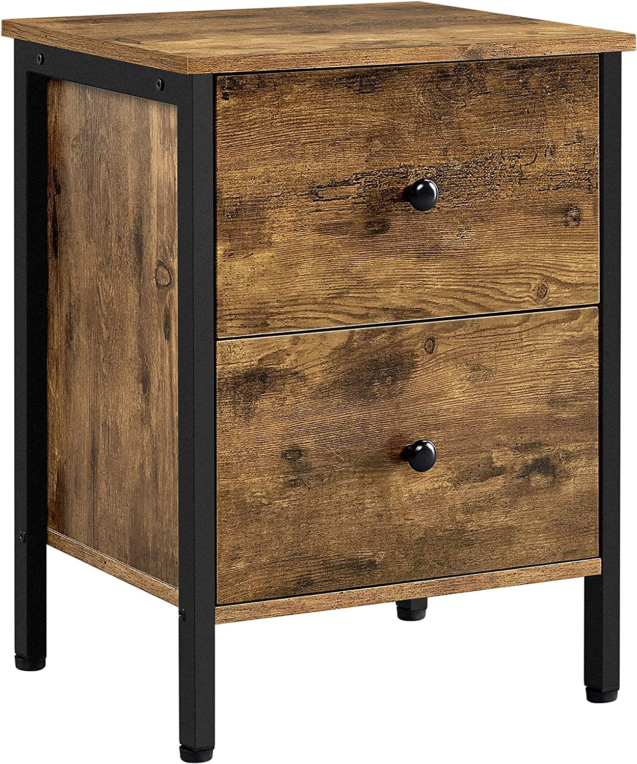 Topeakmart End Table with Ranking TOP20 2 Storage Industrial Sofa Mail order cheap Drawers Sid
