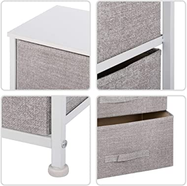ZenStyle Vertical Dresser Storage Tower with 3 Drawers, Fabric Dressers for Bedroom, Bathroom, Closet, Entryway, Hallway, Dor