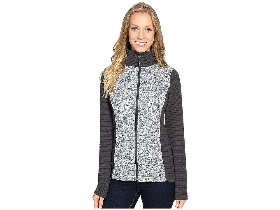The North Face Indi Full Zip Jacket (Lunar Ice Grey Heather/Asphalt Grey (Prior Season)) Women