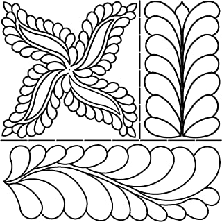 Sten Source 17-Inch by 20-Inch Quilt Stencils by Pepper Cory-C. L. Fab, Feathers