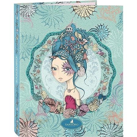 SANTORO Carpeta con Folios4 Anillas Mirabelle Marina, 265x330mm