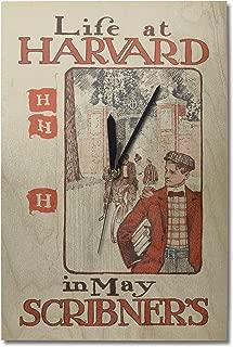 Lantern Press Scribner's - Life at Harvard - USA c. 1897 - Vintage Advertisement (10x15 Wood Wall Clock, Decor Ready to Hang)
