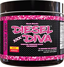 Women Preworkout Energizer and Energy Shot Sweet Pineapple Diesel Diva Energized Vegan Friendly Fermented BCAAs with no Artificial Flavors or Colors. 3 Grams BCAAs. 330 Grams