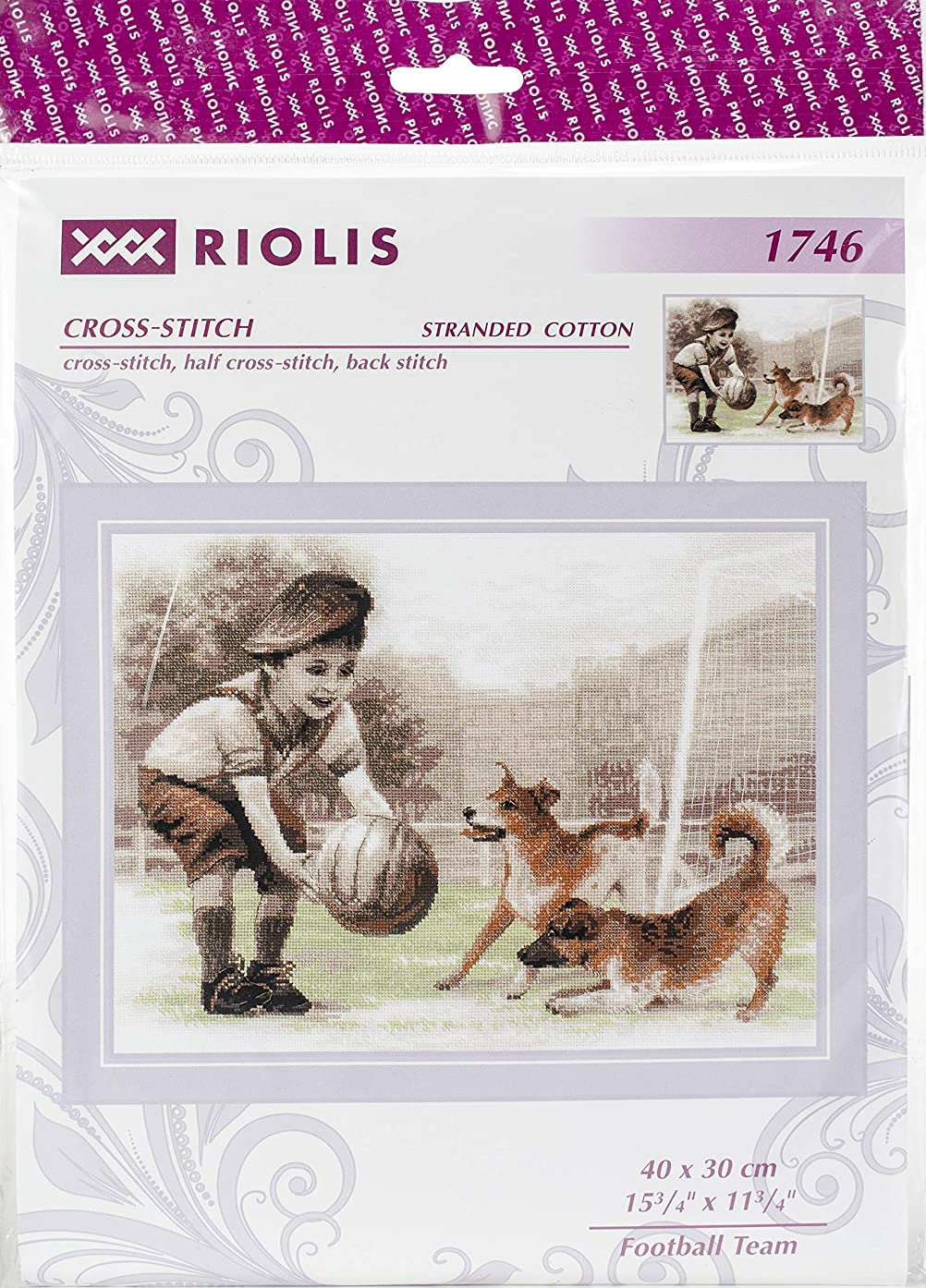 RIOLIS 1746 - Football Team - Counted Cross Stitch Kit 15?