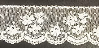 2-1/2'' Floral White Lace, White Scalloped Net Lace -10 Yards Trim Ribbon DIY Craft Trim Bridal Weddings