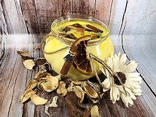 Candela Arancio e Cannella speziata in cera di soia e oli essenziali profumatissima 100% naturale idea regalo di natale