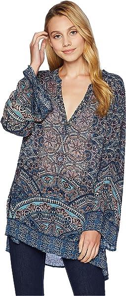 Long Sleeve Printed Tunic