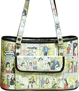 Handbag made from Archie comics - FREE SHIPPING - upcycled vegan recycled handmade unique bag betty and veronica magazine paper handbags gift gifts for comics lover lovers cartoon fun cute