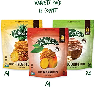 Natural Sins Variety Pack of Baked Mango, Pineapple and Coconut Chips | 1 Ounce Bag