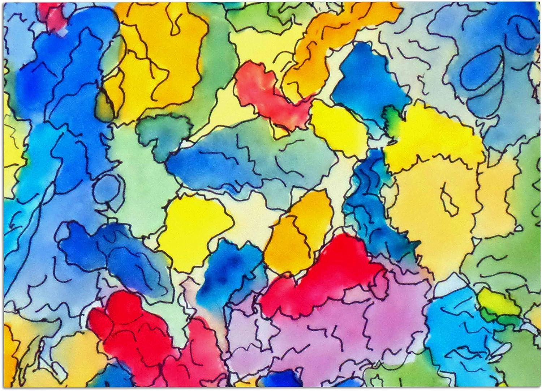 KESS InHouse CR2014ADM02 Cathy Rodgers Explorer bluee Yellow Dog Place Mat, 24  x 15