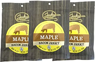 Maple Bacon Jerky - 3 PACK - Made with REAL Bacon - World Famous, Small Batch Bacon Jerky - 6 oz. total