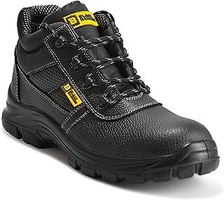 Black Hammer Chaussures De Sécurité Hommes Bottes De Sécurité en Cuir Résistantes et Imperméables S3 SRC 1007