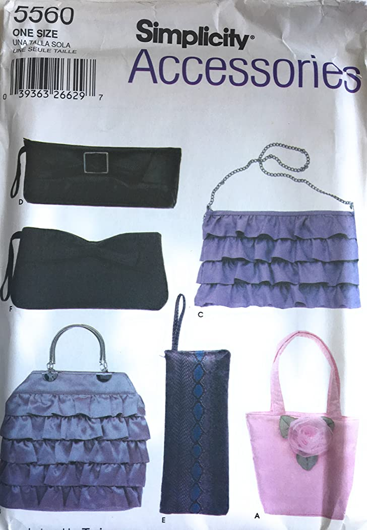 Simplicity 5560 Accessories Patterns, Bag Patterns,Purse Patterns,Sewing Patterns