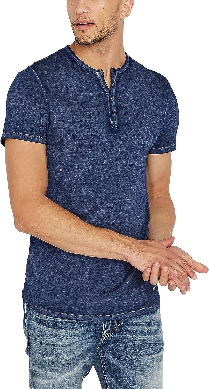 Buffalo David Regular dealer Bitton Men's Henley Kasum Sleeve Short Free shipping on posting reviews