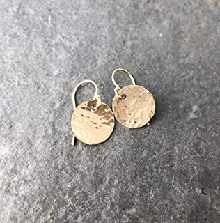 b971f333f Yellow Gold-Filled Disc Earrings - Hammered Simple