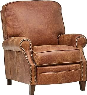 Stone & Beam Jameson Farmhouse Leather Recliner, 36