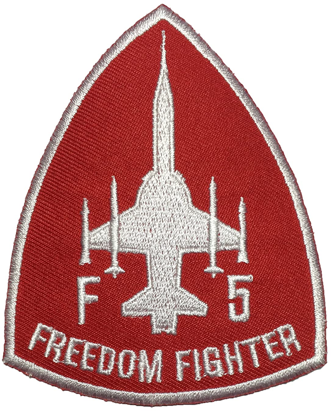 Papapatch F-5 Freedom Fighter Tiger II Embroidered Applique Sewing Iron on Patch - Red (F5-RD)