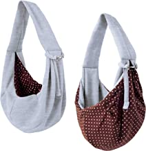 iPrimio Dog and Cat Sling Carrier – Hands Free Reversible Pet Papoose Bag – Soft..