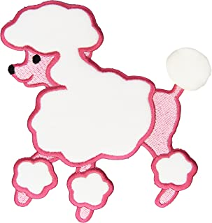 Wright Products Fifi & Gigi Poodle Iron-On Applique-Pink 5-1/2