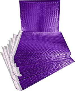 ABC 10 Pack Metallic Bubble mailers 15 x 17. Purple Padded envelopes 15x17. Large Glamour Bubble mailers Peel and Seal. Padded mailing envelopes for Shipping, Packing, Packaging. Wholesale.