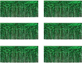 Beistle 55038-G 1-Ply Green Metallic Fringe Drapes, 15 Inch by 10 Feet, 6 Piece