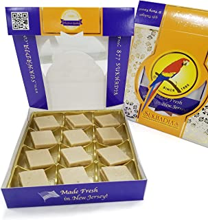 Sukhadia's Kaju Katli, Indian Sweet, 1LB Box (16oz)