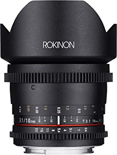 Rokinon Cine CV10M-MFT 10mm T3.1 Cine Wide Angle Lens for Olympus/Panasonic Micro 4/3 Cameras