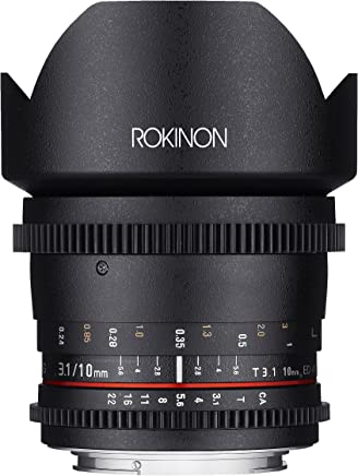 Rokinon Cine CV10M-E 10mm T3.1 Cine Wide Angle Lens for Sony E and for Other Cameras