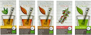 Bistrotea Tee Sticks, 5er Collection - Früchtetee, Kräutertee, Grüntee Zitronengras, Schwarztee Earl Grey & English Breakfast, 75 Teesticks x 1,8g 135 g, 79001