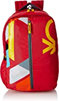 United Colors of Benetton 22 Ltrs Red Casual Backpack (0IP6COLBPR01I)