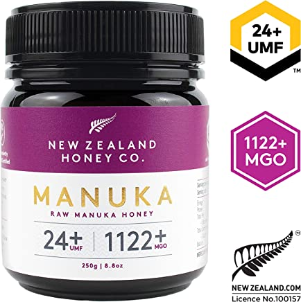 New Zealand Honey Co. Raw Manuka Honey UMF 24+   MGO 1122+, 8.8oz / 250g