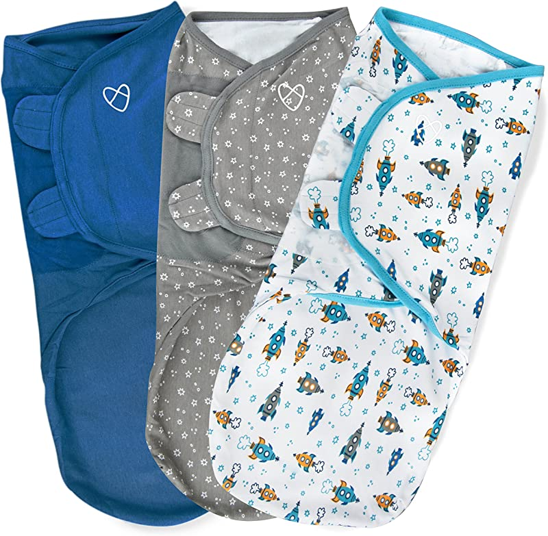 SwaddleMe Original Swaddle 3 PK Superstar LG