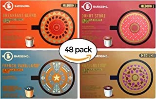 Barissimo Coffee Keurig K-Cup Variety Pack - Breakfast Blend, Donut Store, French Vanilla, Hazelnut