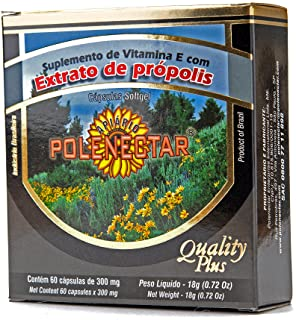 4 Boxes of Polenectar Brazil Green Bee Propolis 300 Milligram (60 Softgels)