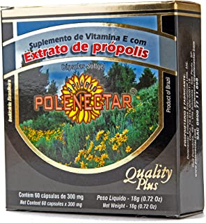4 Boxes of Polenectar Brazil Green Bee Propolis 300 Milligram (60 Softgels)