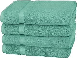 Pinzon Organic Cotton Bath Towel, Set of 4, Mineral Green