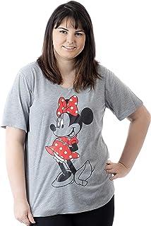 fba922774ea Disney Women s Junior Plus Size Minnie Mouse V Neck T Shirt