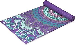 Gaiam Yoga Mat - Classic 4mm Print Exercise & Fitness Mat...