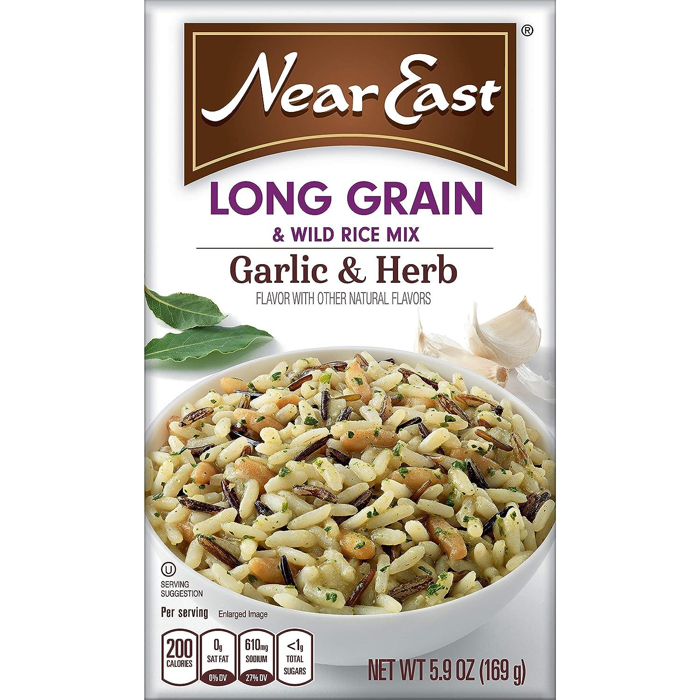 Near East High order Long Grain Ranking TOP19 Wild Rice Box Herb Garlic 5.9oz Mix
