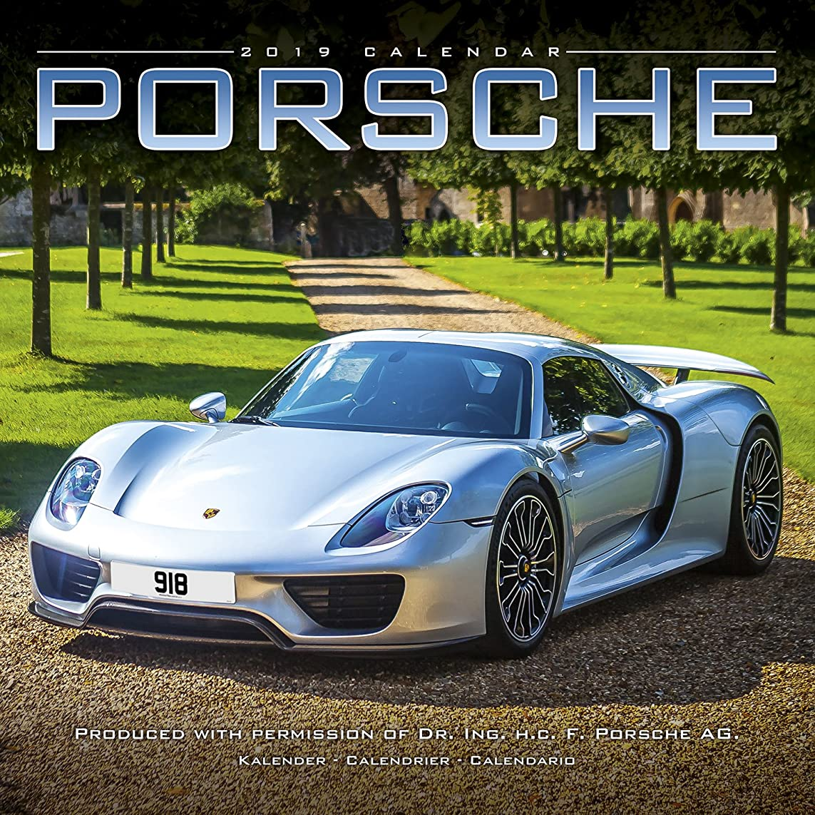 施設靴時間Porsche Calendar 2019