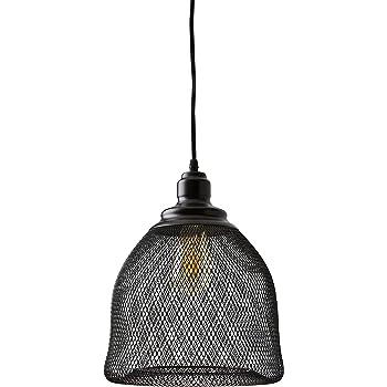 "Amazon Brand – Stone & Beam Mesh Pendant With  Bulb, 39""H, Black"