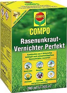 COMPO Rasen Unkrautvernichter Perfekt, Vernichtung von schwerbekämpfbaren Unkräutern, Konzentrat, 200 ml 200m²