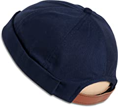 SnugZero - Brimless Adjustable Docker Hat Beanie | Retro Cotton No Visor Cap