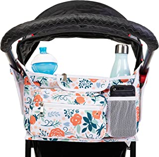Harrian Lucas Baby Stroller Organizer: Universal Accessories Caddy Bag with Cup Holder for Strollers - Stroller Attachment