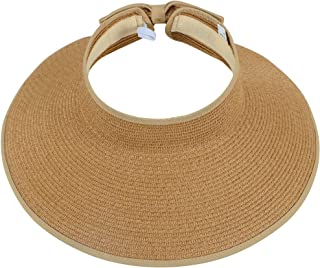 Simplicity Women's Summer Foldable Straw Sun Visor w/Cute...