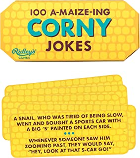 Ridley's 100 Corny Corn on The Cob Hilarious Joke Cards for Adults and Kids