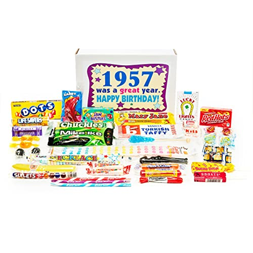 7ee2da82f4 Woodstock Candy ~ 1957 62nd Birthday Gift Box of Nostalgic Retro Candy  Assortment for 62 Year