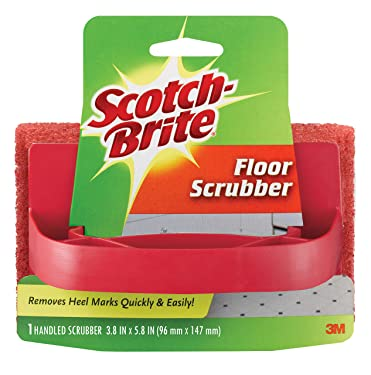 Scotch-Brite 7722 Handled Floor Scrubber, 3.8 in. x 5.8 in, 1/Pack, 1 Count (Pack of 1)