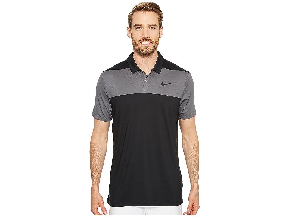 Nike Golf Color Block Dry Polo (Black/Dark Grey/Flat Silver) Men