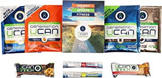 Generation UCAN Fitness Variety Pack, SuperStarch Energy Drink Mix, Protein Drink Mix, Protein Snack Bars, & Hydrating Electrolyte Mix, 8 Count